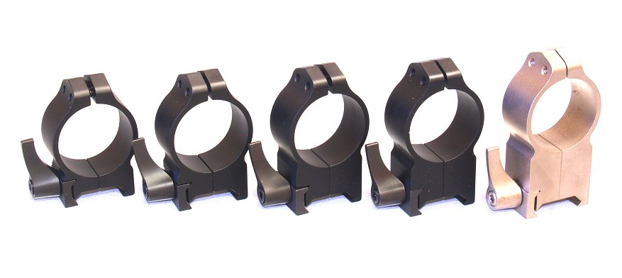 Fixed Black 30mm Rings Warne Maxima Quick Detach Scope Mounting