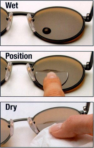 Stick-On Bifocals Instructions
